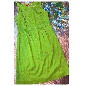 Boden Green Sleeveless Silk Blend Dress Size 10R